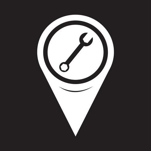 Icona della chiave del puntatore della mappa