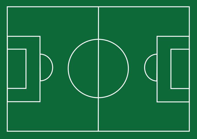 Campo di calcio o campo di erba strutturato calcio