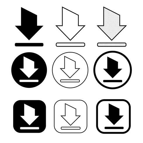 set van eenvoudige teken download pictogram