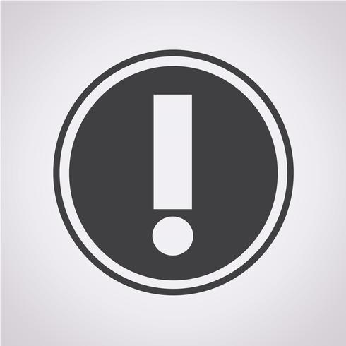 Sinal de símbolo de ícone de alerta