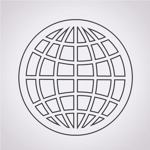Icono de globo símbolo signo