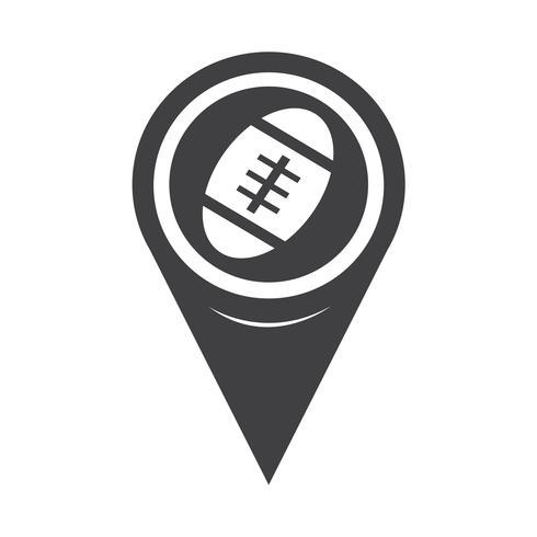 Karta Pointer Amerikansk fotbollsikon