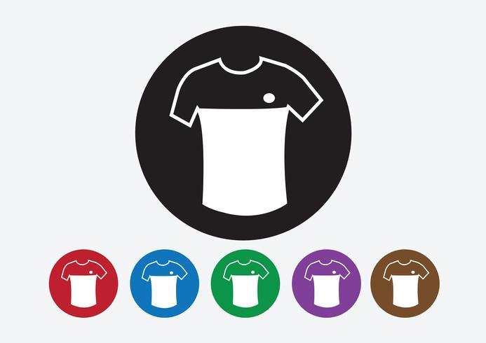 Ícono de camiseta y camiseta Íconos de ropa