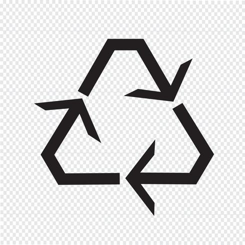 Reciclar icono símbolo signo vector