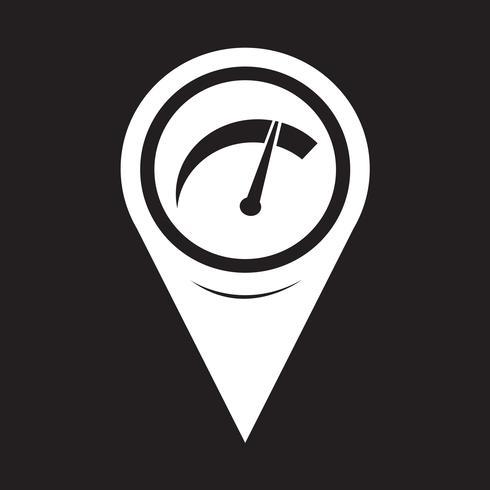 Mapa do ponteiro do carro ícone do medidor