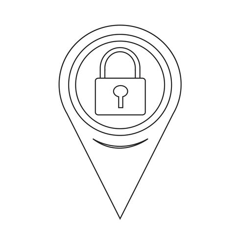 Map Pointer Lock Icon