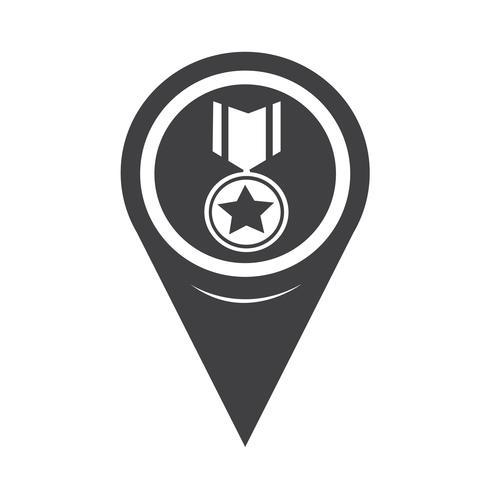 Mapa da Medalha de Ponteiro Ícone vetor