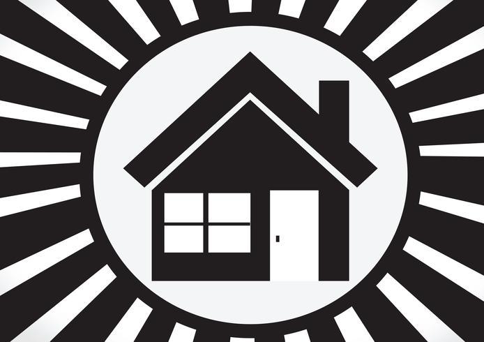 Icono de inicio y concepto de bienes raíces
