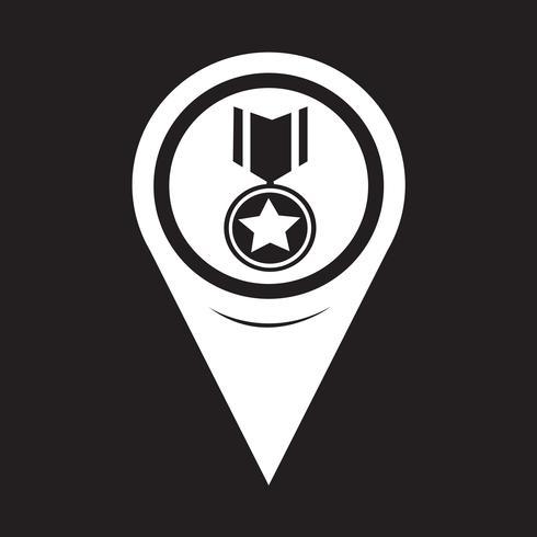 Kaart aanwijzer medaille pictogram