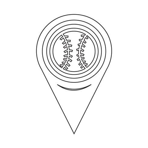 Map Pointer Baseball Icon