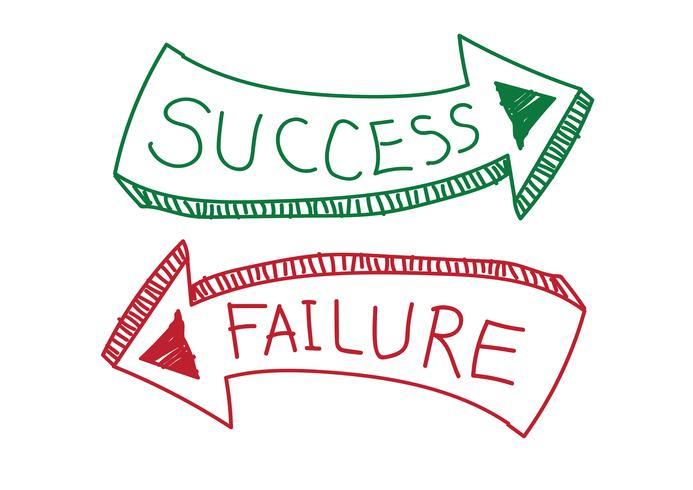 Succes en falen teken symbool vector