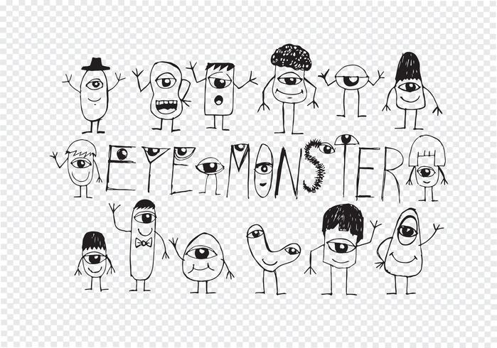 Eye Monster Symbol Sign