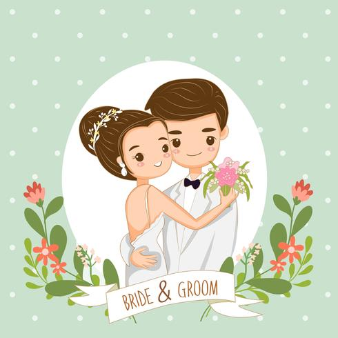 cute couple for wedding invitations card