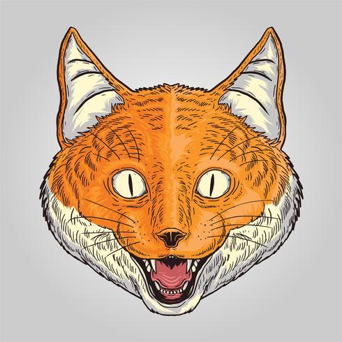 Fox Smilley Tiervektor vektor