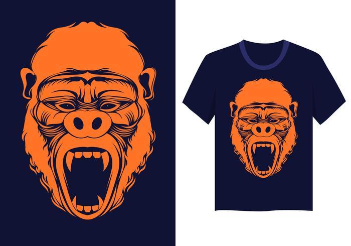 Vector de cara de gorila