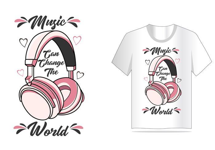 hoofdtelefoon vector voor t-shirt ontwerp