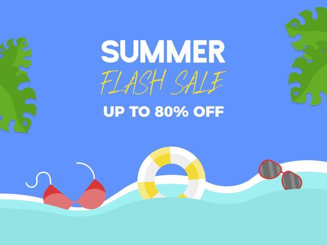 Summer Flash Sale, Summer elements on the beach