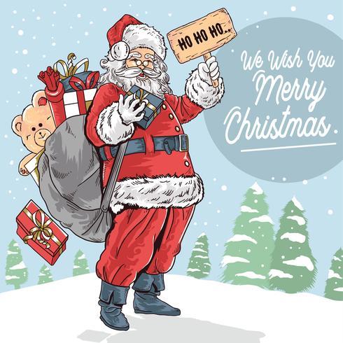 Santa Claus Joyeux Noël vecteur