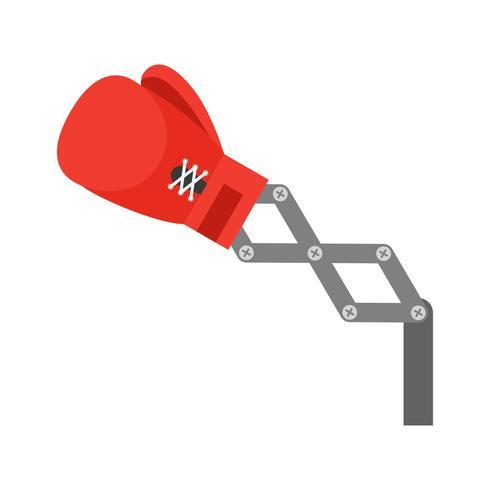 Guantes de boxeo de juguete rojo ilustración vectorial de brazo