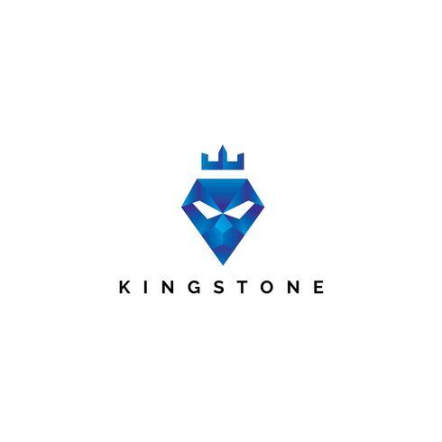Modello di progettazione di logo di vettore di Kingstone