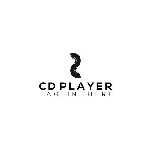 Modelo de Design de logotipo de vetor de CD