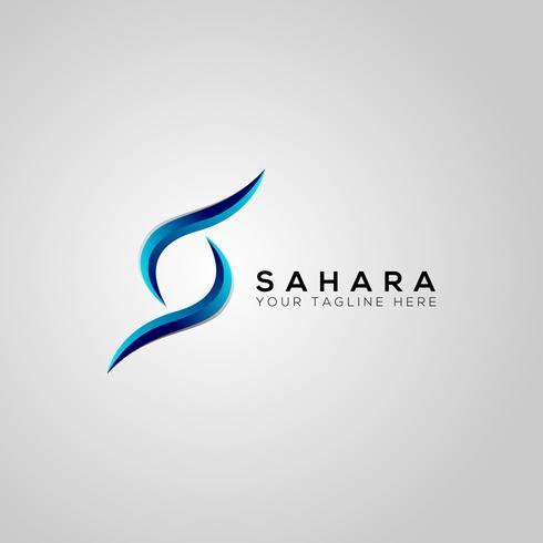 modelo de logotipo de vetor sahara s