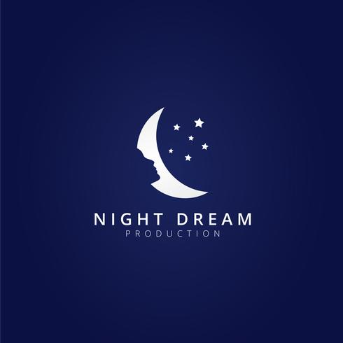 Night Dream Moon Logo Mall
