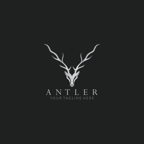 Geweih Vektor Logo Vorlage