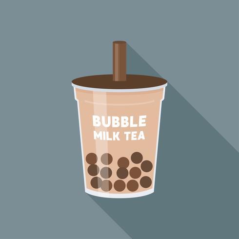 Bubble tea of Pearl melkthee vectorillustratie