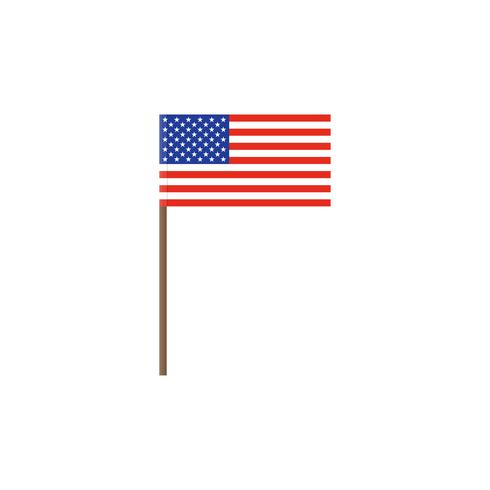 Isolated Flag of United states vector illustration