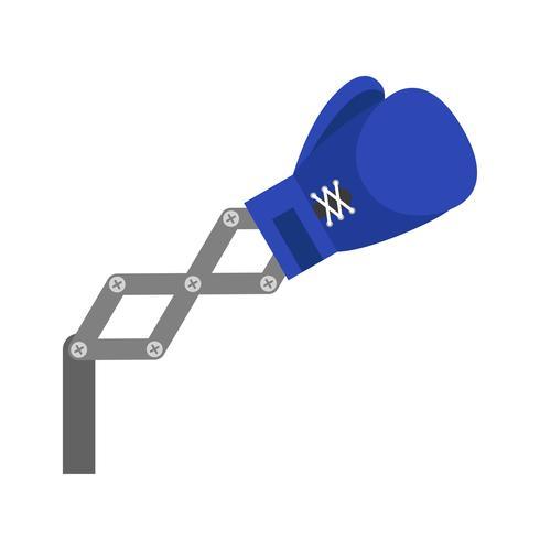 De blauwe stuk speelgoed bokshandschoenen bewapenen vectorillustratie