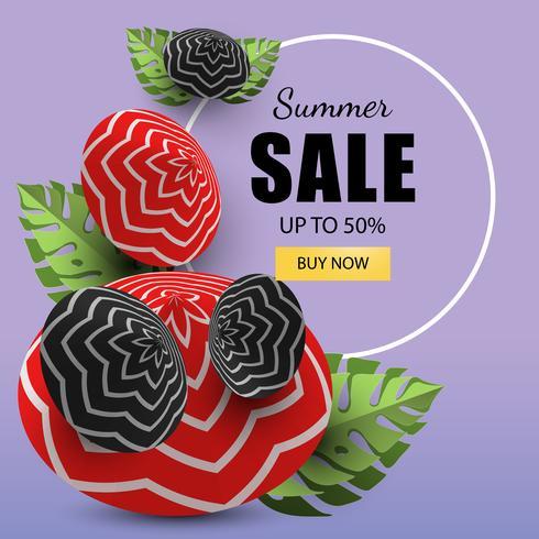 Vendas de banner de verão