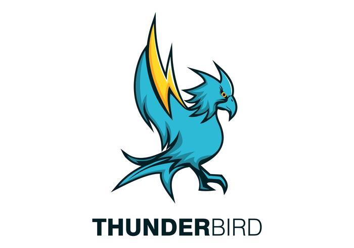 Ilustración de vector de mascota de pájaro trueno