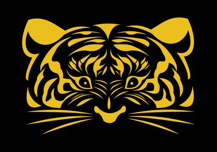 logo de cara de tigre dorado