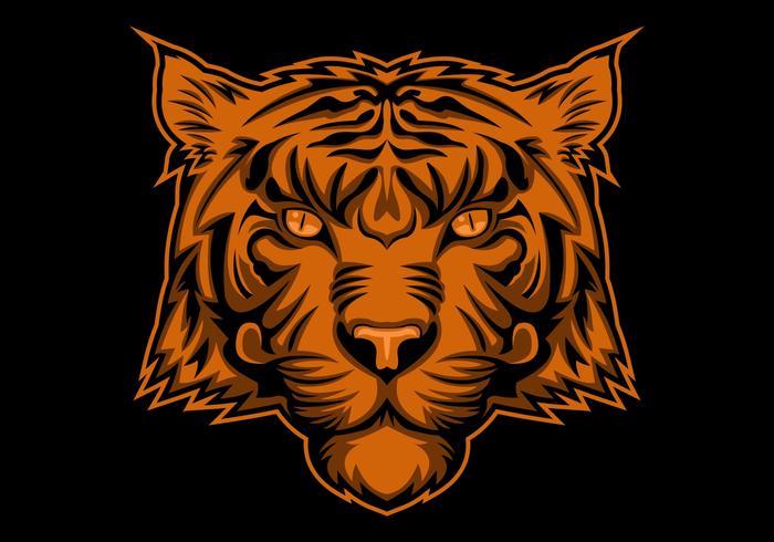 tijger hoofd illustratie