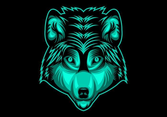 wolf hoofd vectorillustratie