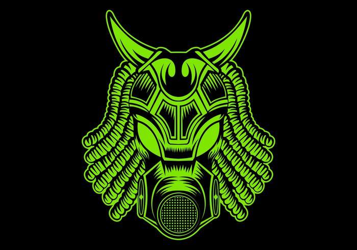 monster mask vector illustration