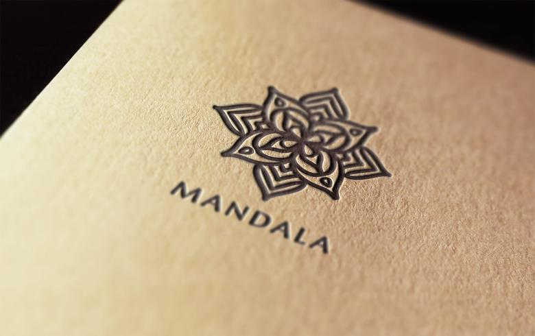 mandala logo vector ontwerp