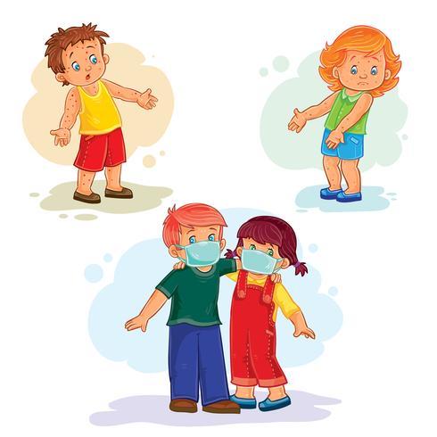 Définir des icônes petits enfants malades