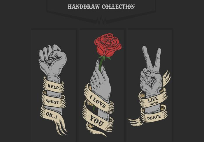 Hand Sammlung Vektor-Illustration