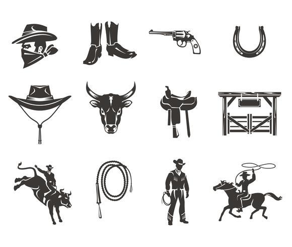 Setze Rodeo Icons