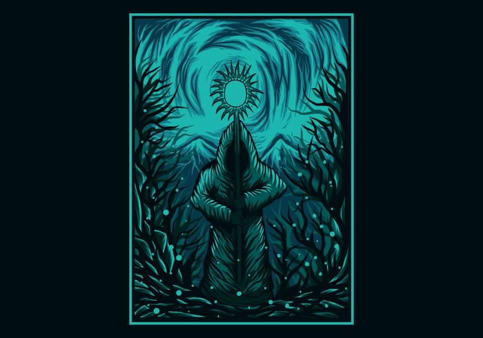 Ilustração em vetor de poder mágico