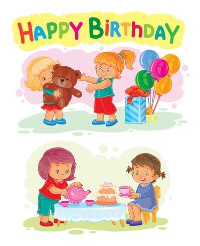 Sjabloon voor Happy Birthday wenskaart.