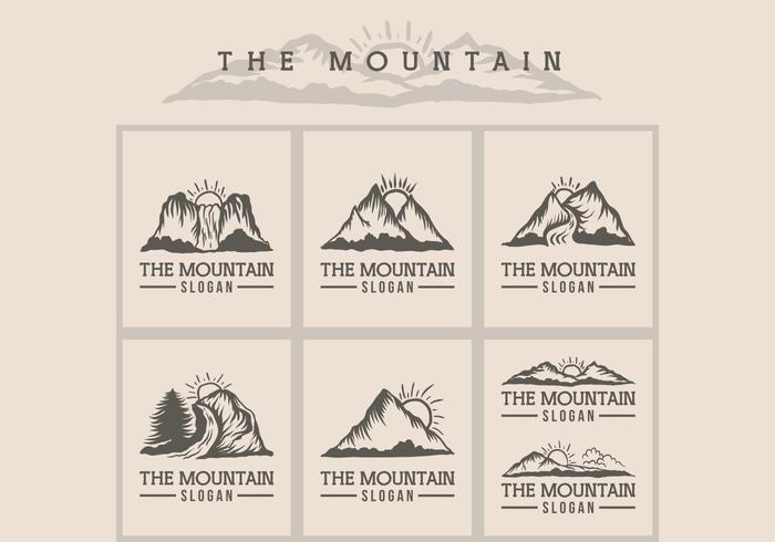 ilustração em vetor logotipo montanha do sol
