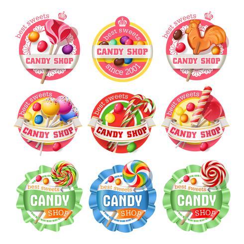 Vecteur série de logos de sucette, autocollants