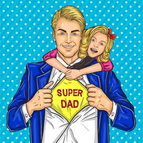Super Papa und seine geliebte Tochter