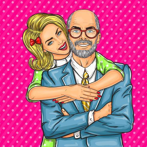 Äldre far och hans älskade dotter