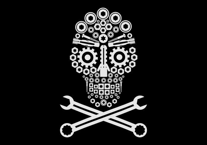 crâne automobile logo