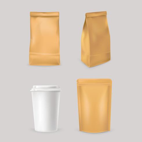 Ställ in ikoner för snabbmatförpackningar
