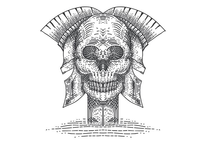 schedel spartaanse vectorillustratie